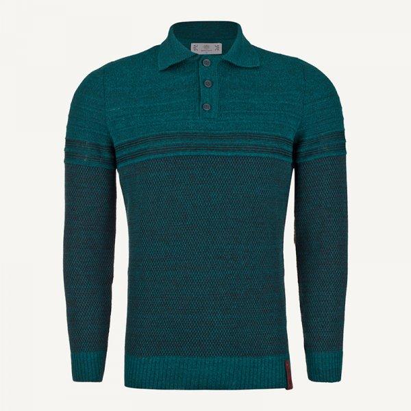 لباس زمستانی بلوز مردانه بافت ارزان 2203 سبز یشمی