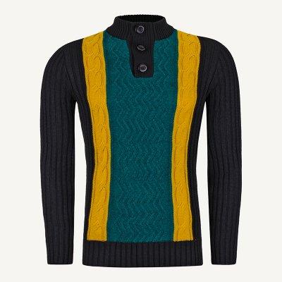 لباس زمستانی ژاکت مردانه شیک ارزان 2191 مشکی