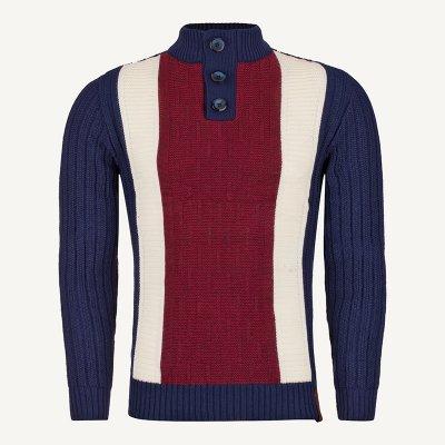 لباس زمستانی ژاکت مردانه شیک ارزان 2192 سورمه ای