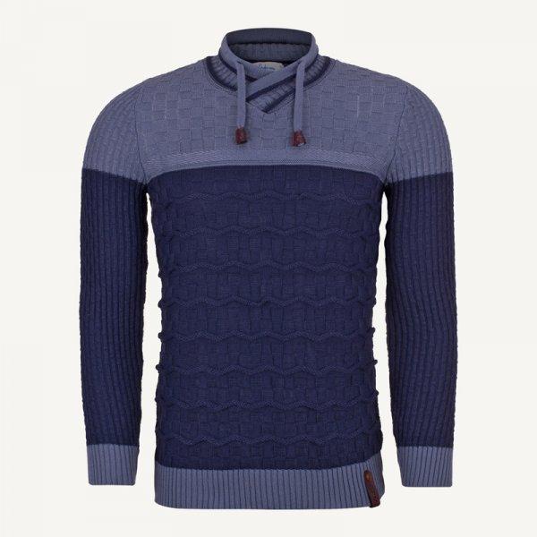 لباس مردانه پلیور یقه هفت سورمه ای 2145