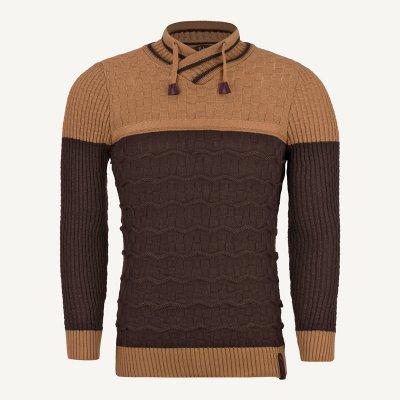 لباس مردانه پلیور یقه هفت قهوه ای 2154