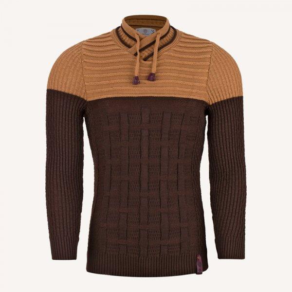 لباس ژاکت بافتنی مردانه شیک قهوه ای