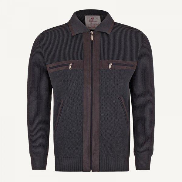 ژاکت مردانه جلو باز خاکستری ارزان