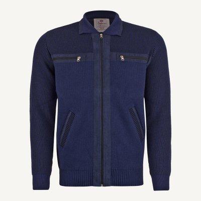 ژاکت مردانه جلو باز سورمه ای ارزان
