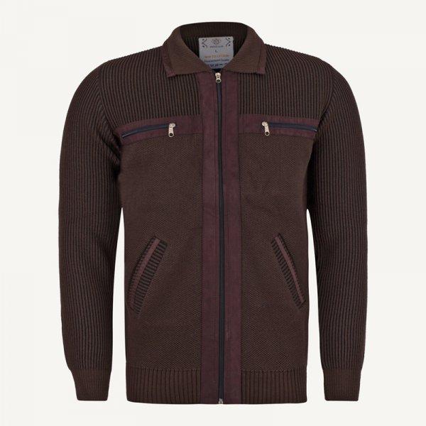 ژاکت مردانه جلو باز قهوه ای ارزان
