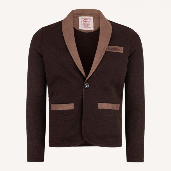 کت تک اسپرت مردانه بافت قهوه ای روشن